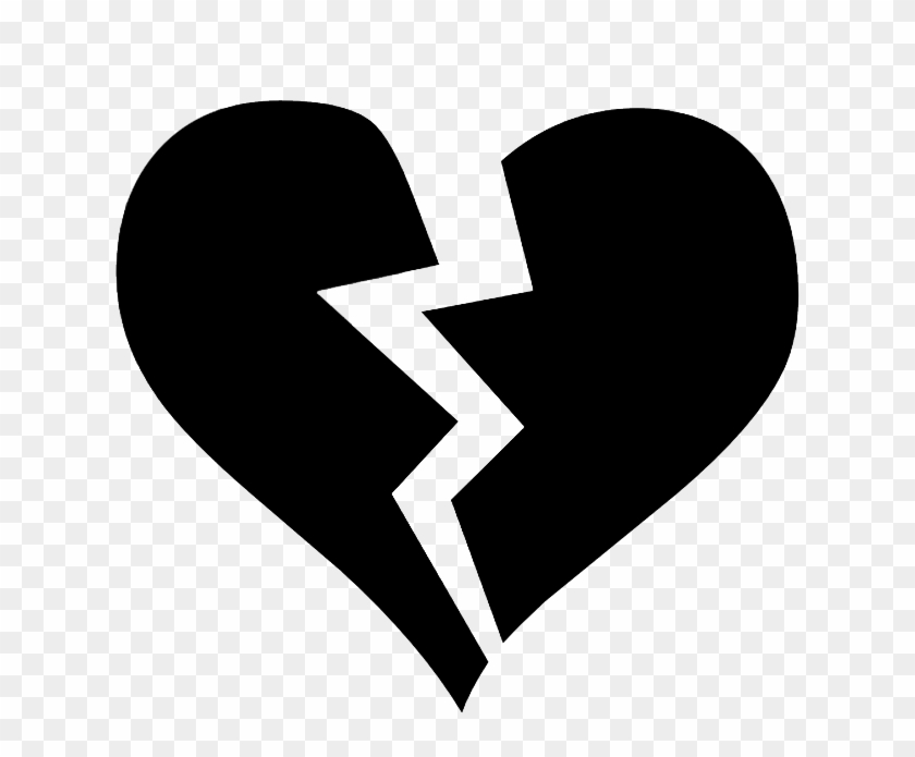 Black Broken Heart Symbol Free Transparent Png Clipart Images Download