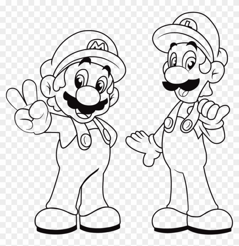 Awesome Mario Coloring Sheets Topic Super Mario And Luigi Coloring Pages Free Transparent Png Clipart Images Download