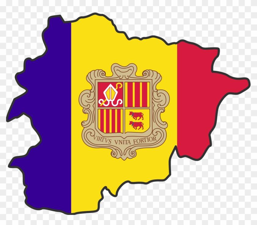 Andorra Map Clipart - Andorra Flag Country #225786
