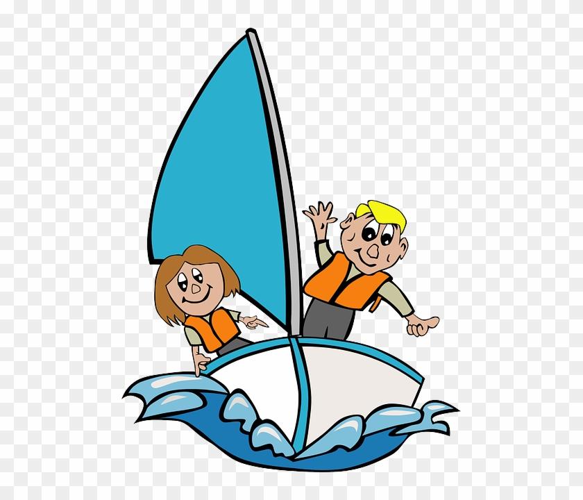 Segeln Mit Kind Mitsegeln Dalmatien - Sail A Boat Clipart #225893