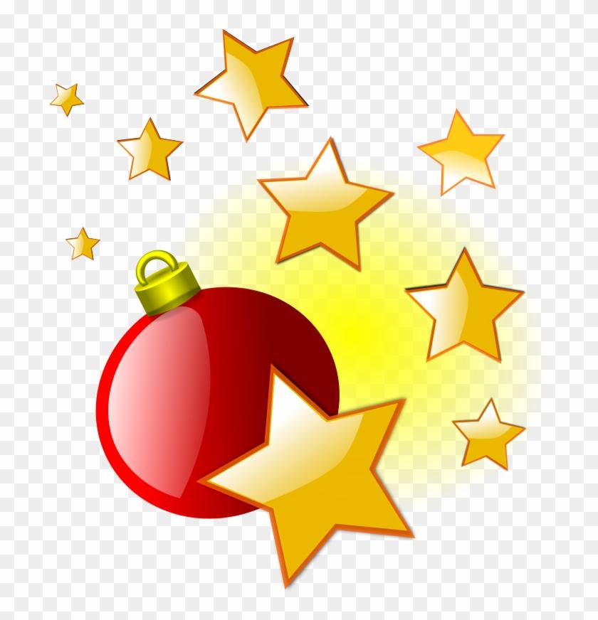 Free Christmas L4 - Christmas Stars Clipart #225959