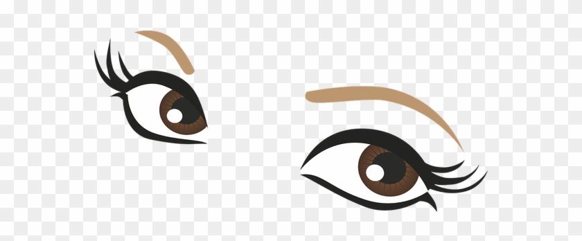 Clip Eyelash Clipart Extension - Brown Eyes Cartoon Png #1435248