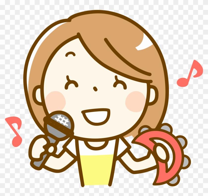 Woman Singing Big Image - Singing Clip Art Head #1436479