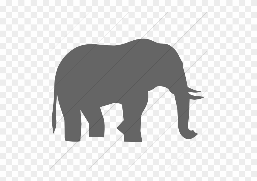 Animals African Elephant Icon Simple Gray - Elephant Black And White Simple #1437436