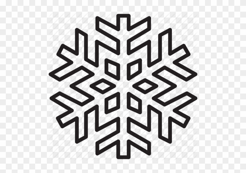 Download Snow Flake Out Line Clipart Snowflake Clip - White Snow Flake Clipart #1438346