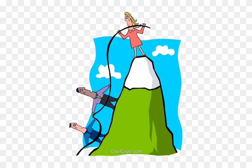Business Climbing A Mountainside Royalty Free Vector - Phases Of First Year Teachers Attitudes Toward Teaching #1438661