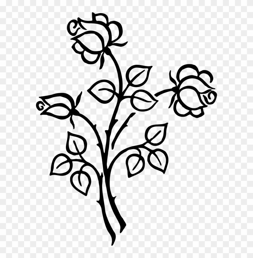 Clipart Stylized Roses Line Art Microsoft Windows Clip