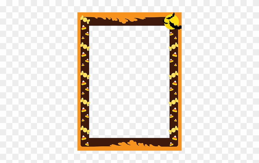 Halloween Frame Border With Treats For Kids - Free Halloween Border Word Document #1439684