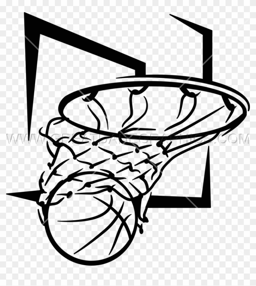 Basketball swoosh. Net swish png clipart
