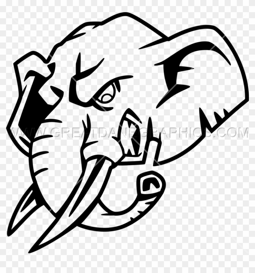 Png Library Download Elephant Head Production Ready - Elephant Head Logo Png #1440534