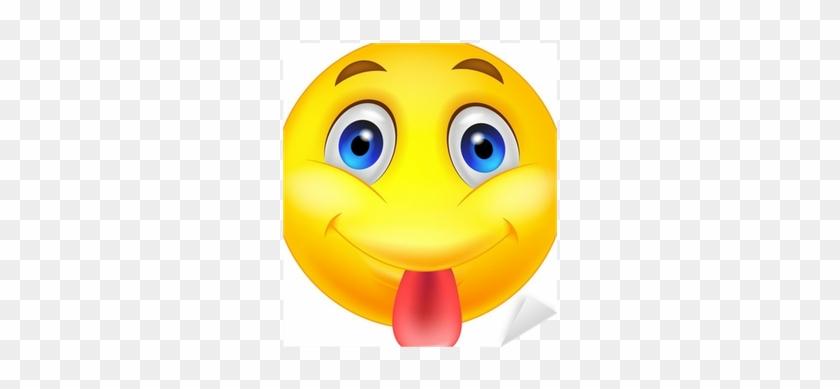Smiley Emoticon Sticking Out His Tongue Sticker • Pixers® - Imagenes De Caritas Sacando La Lengua #1441472