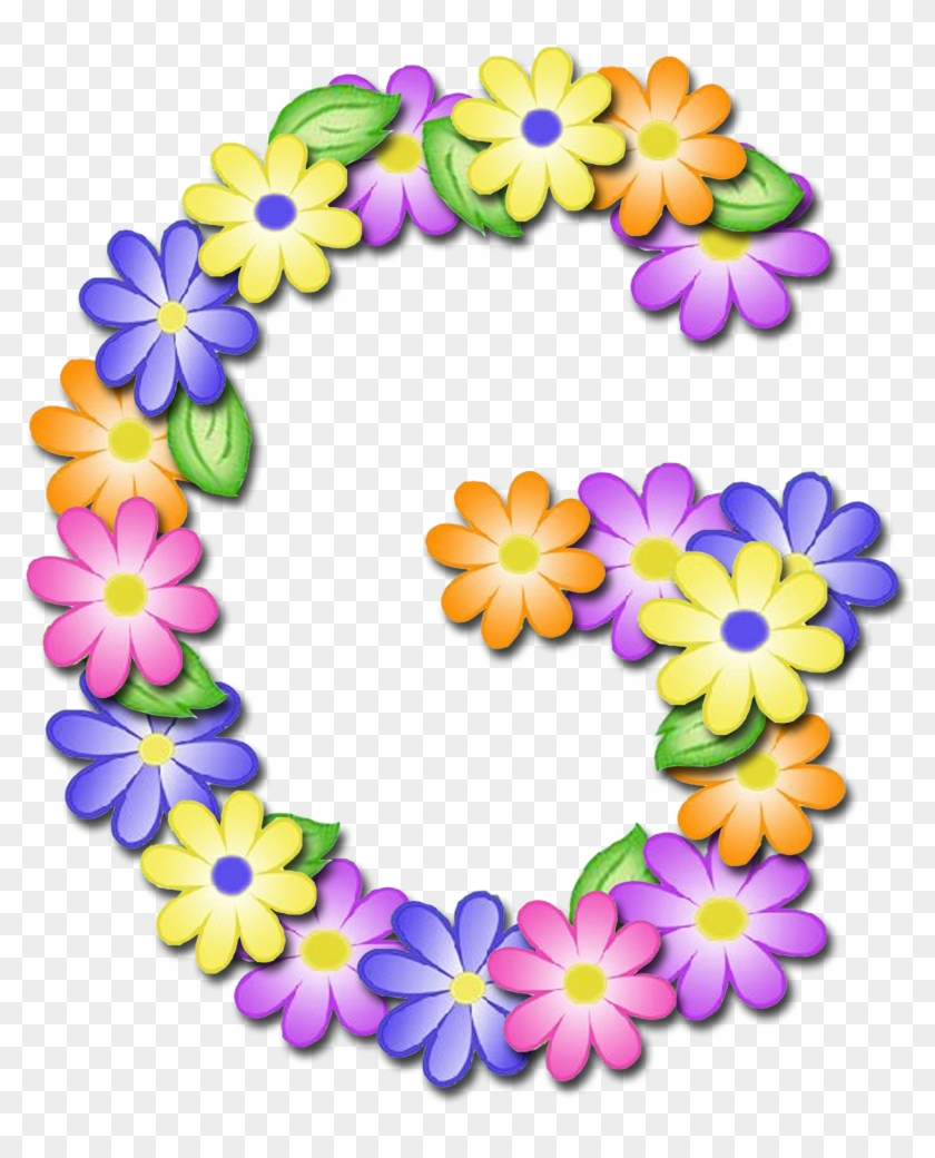 Pin By Guzel On Буква G - Flower Letter G Png - Free
