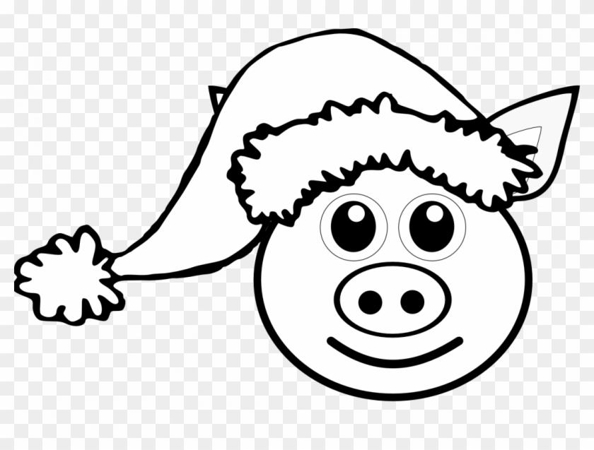 Large Size Of How To Draw A Pig Face Cute Drawing Realistic - Pig Christmas Coloring Pages #1442024