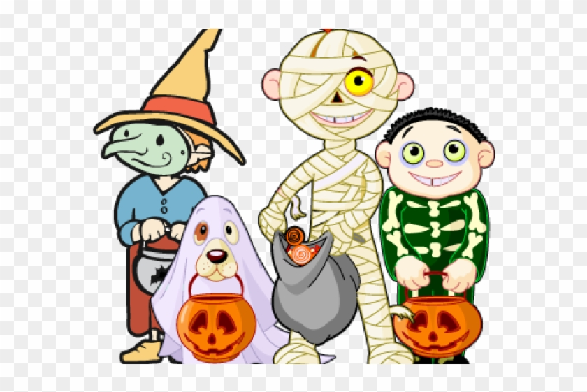 Trick Or Treat Clipart October - Halloween Party Costume Coloring Book #1442121