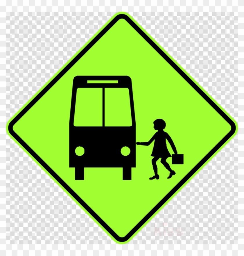School Bus Sign Clipart Bus Stop School Bus Traffic - Bus Stop Sign Australia #1442733