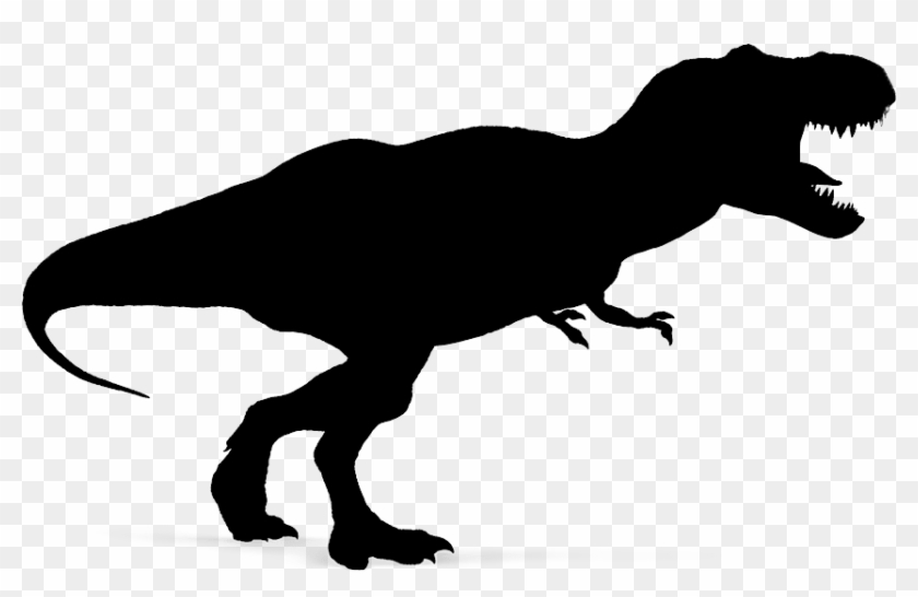 Dinosaur Clipart Shadow For Download And Use - Dinosaur Silhouette T Rex #1443137