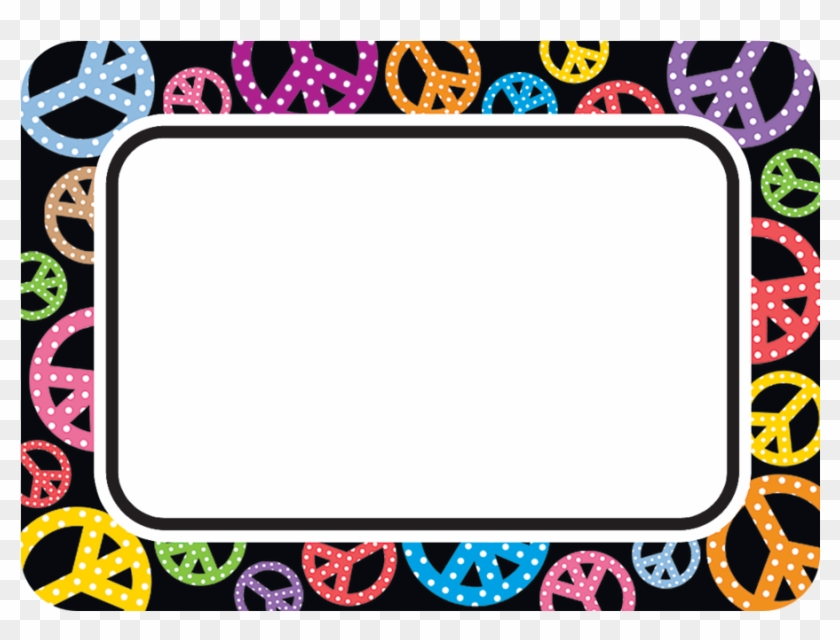 Peace Signs Themes Decorative Teacher Created Resources - Peace Sign Name Tags #1443518
