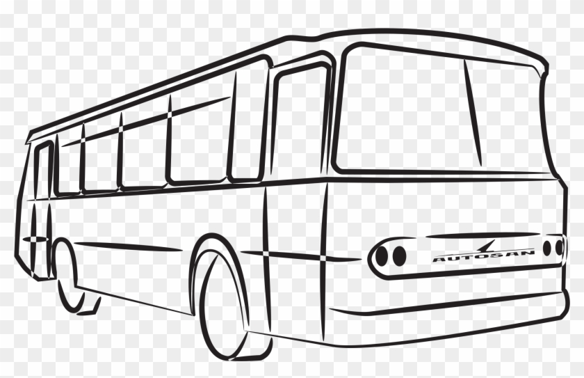 Oakwood Primary School - Bus Clipart Black And White #1444005