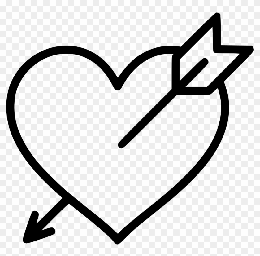 Love Valentine Santa Heart Arrow Svg Png Icon Free - Arrow