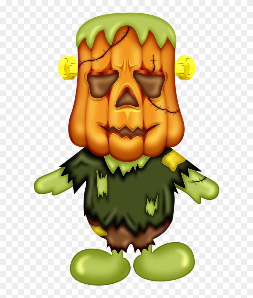 B *✿* Pumpkin Patches - Monster Halloween Clipart #1444466