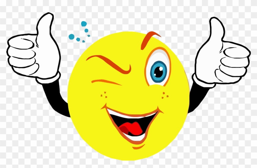 Smiley Face Clip Art - Smiley Face With Thumbs Up #1445095