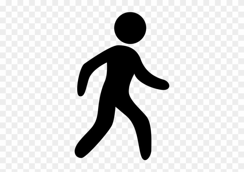Walking Icon Walking Man Walking Pedestrian Icon With - Walking Person Icon Png #1445600