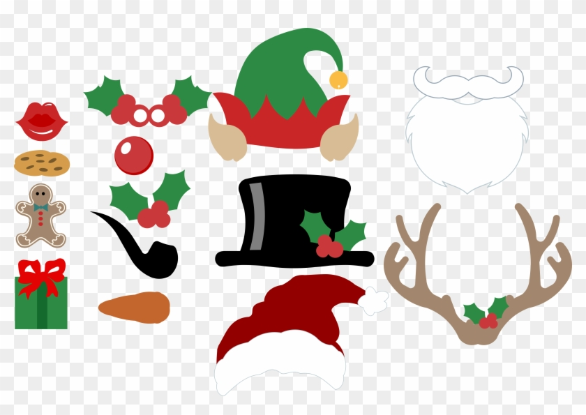 Free Christmas Photo Booth Props Svg Files Bits & Pieces - Christmas Day #1446861