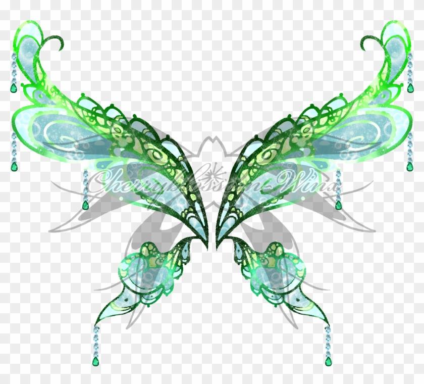 Marina Enchantix Wings By Cherryblossomwings - Anime Green Fairy Wings #1446870