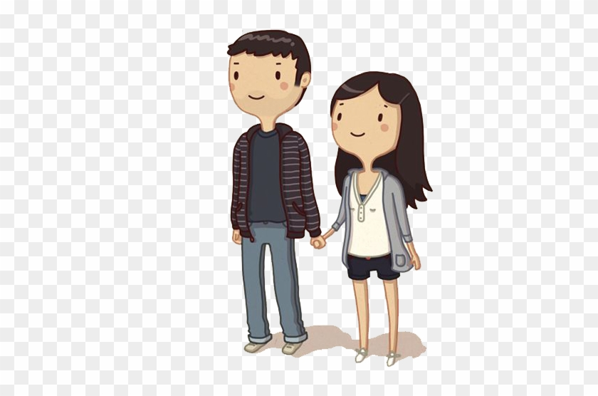 Cartoon Drawing Couple Holding Hands Cute Cartoon Couples In