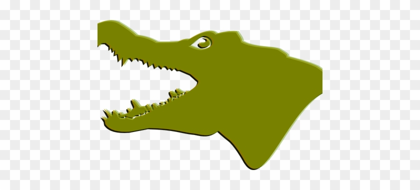 Clipart Royalty Free Library Crocodile Clipart Swimming - Gator Silhouette Png #1448958