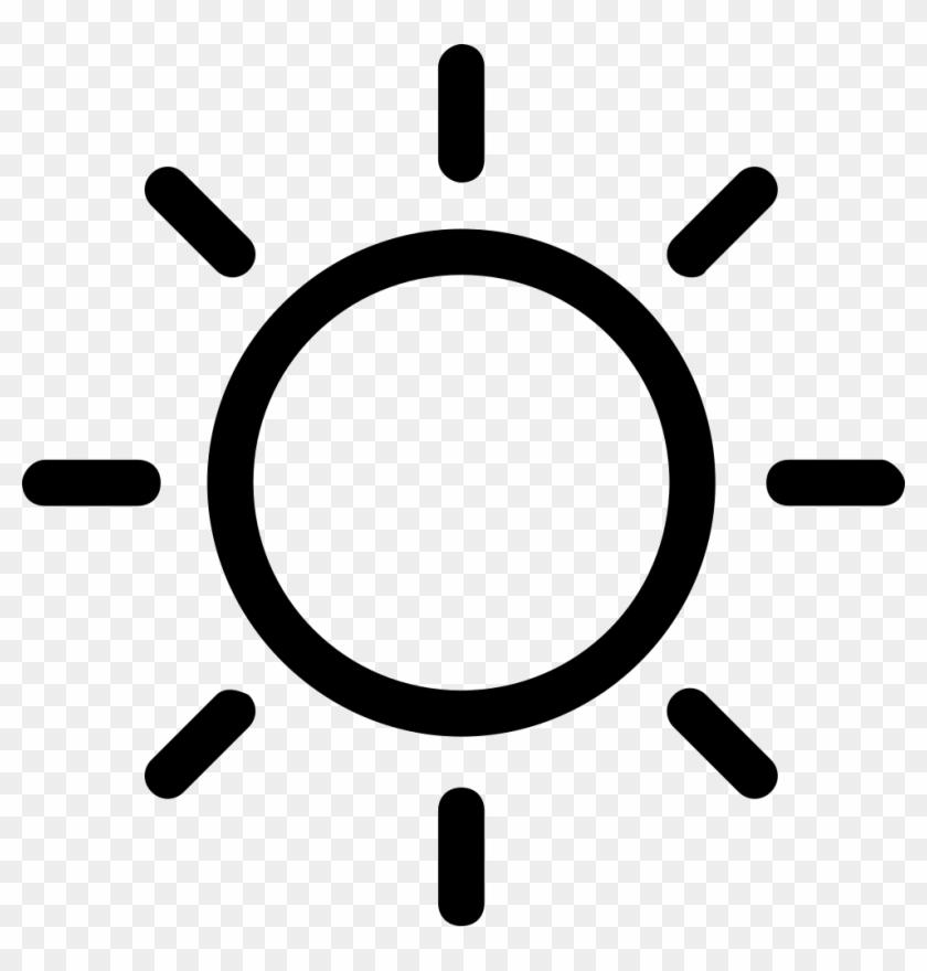 Weather Stroke Symbol Svg Png Icon Free - Sunny Symbol #1449319