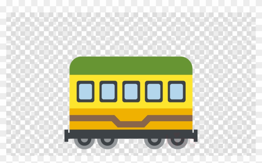 Train Car Emoji Clipart Railroad Car Rail Transport - Santa Claus Hat Transparent Background #1449369