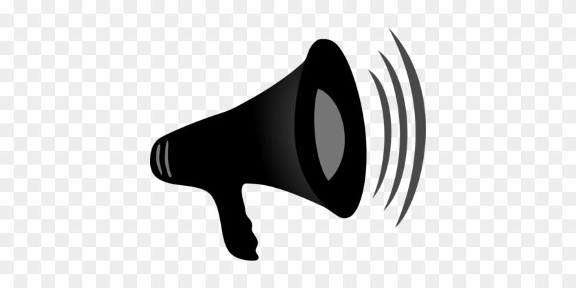 Loudspeaker Microphone Sound Drawing Megaphone - Megaphone Png #1449956