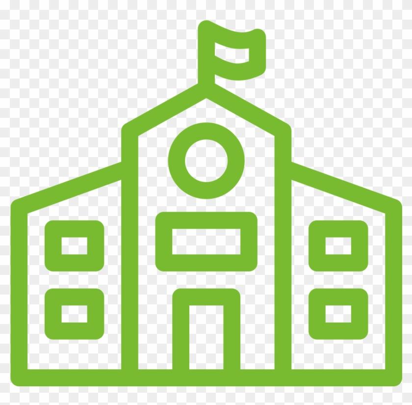 Get Your School On Board - School Outline Building Png #1451604