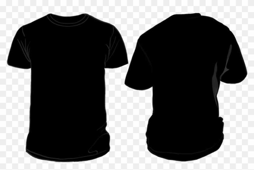 Black Shirt Png T Shirt Black Clothing - Black Shirt Front And Back Png #1451894