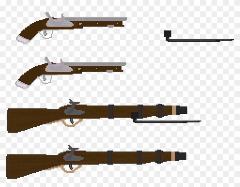 English Civil War Rifle And Pistol, Bayonet Additions - English