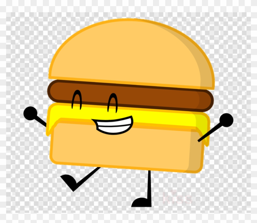Bfdi Burger Clipart Hamburger Cheeseburger Hot Dog - Emoji Png