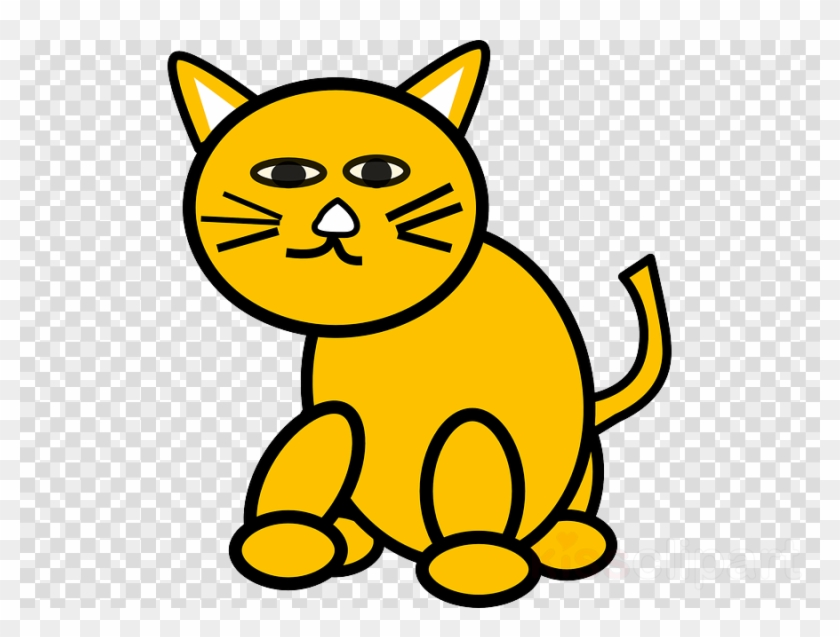 Yellow Cat Clipart Cat Kitten Clip Art - Custom Orange Cat Shower Curtain #1455284