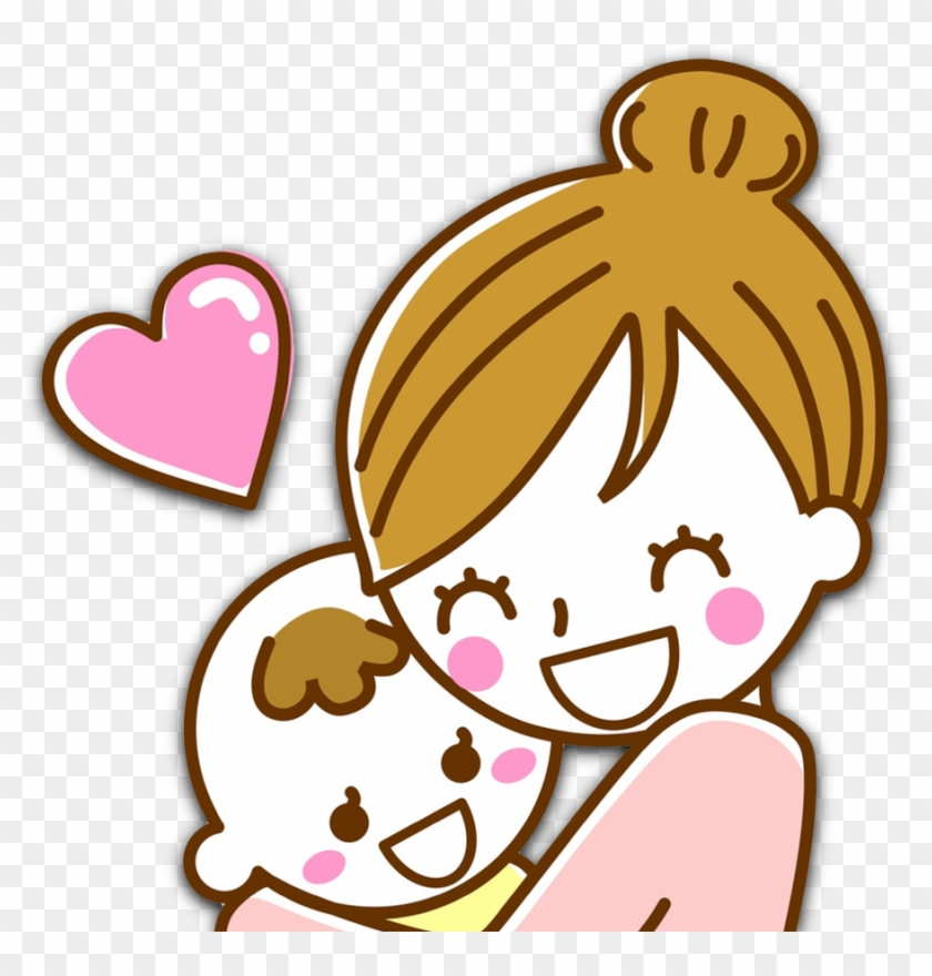 Daycare Clipart Big Baby Hug Mom And Baby Girl Cartoon Free Transparent Png Clipart Images Download