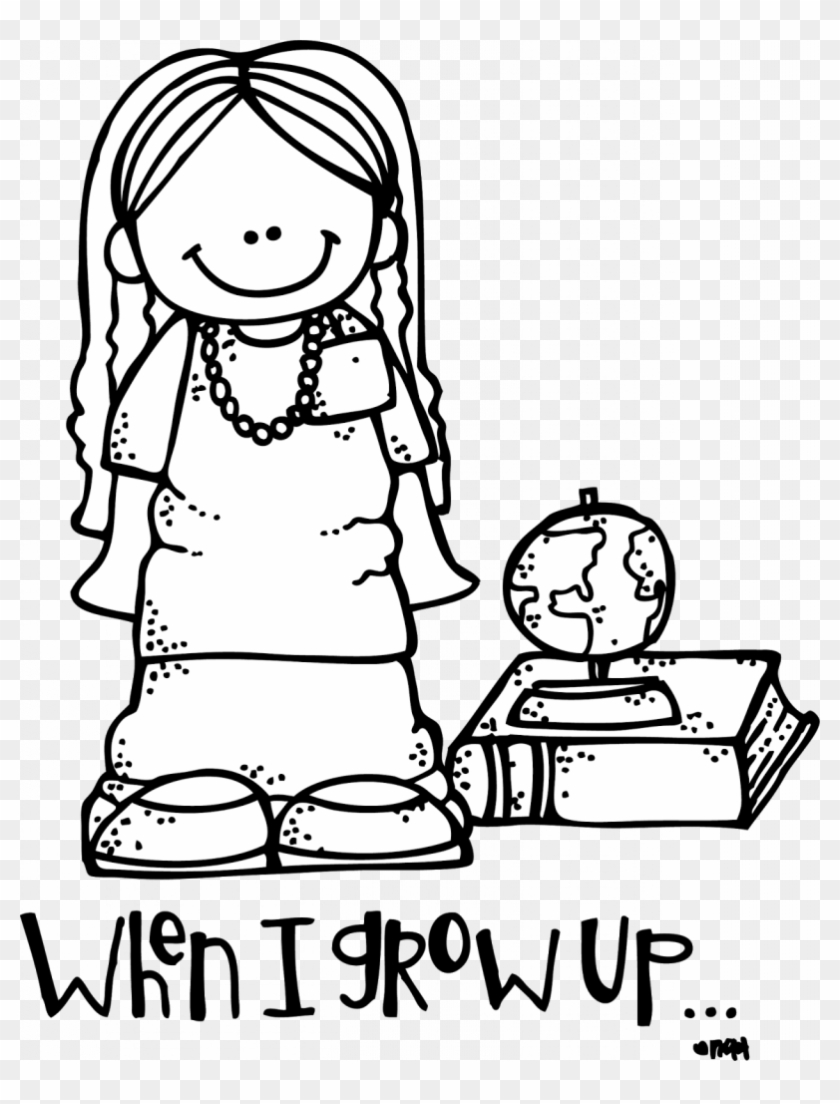 Strange When I Grow Up Coloring Pages Girl Lds Clip - Grow Up White And Black Clipart #1457277