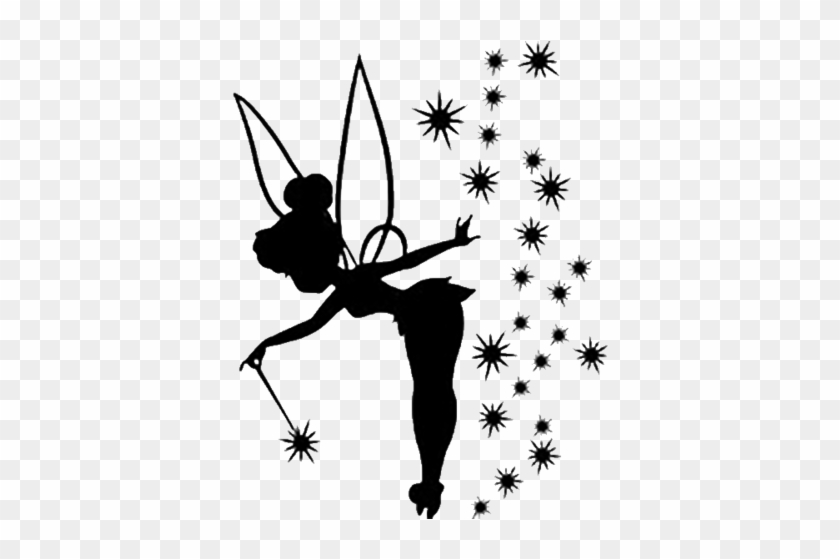 Tinkerbell Decal - Tinkerbell With Pixie Dust Silhouette #1457342
