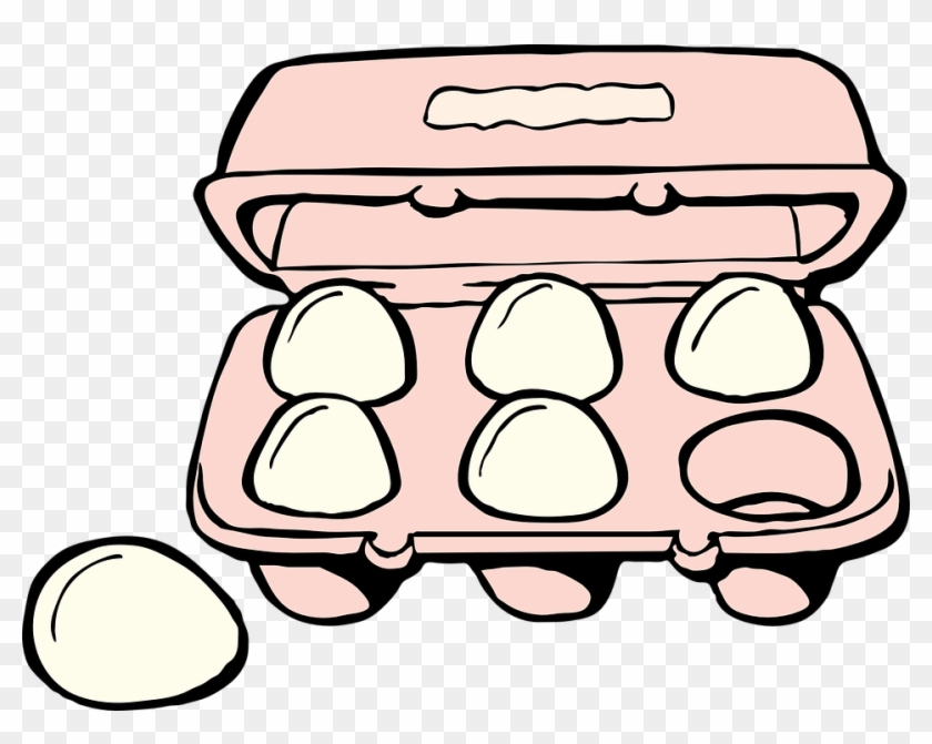 Free Vector Graphic - Eggs Clipart Black And White #226358