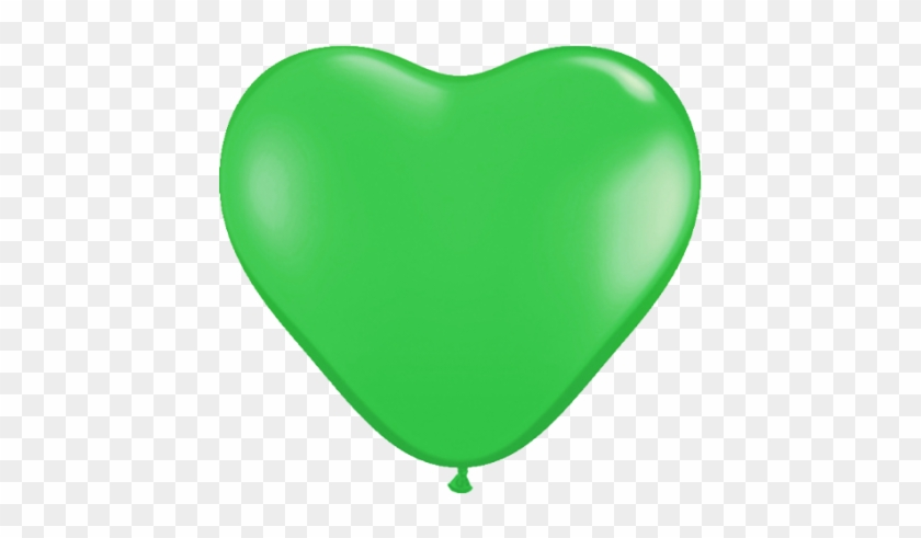 Green Balloons In Heart Shape #226476
