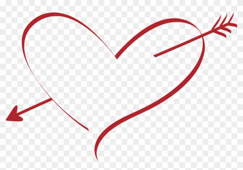 Herz, Liebe, Hochzeit - Heart With Cupid's Arrow #226500