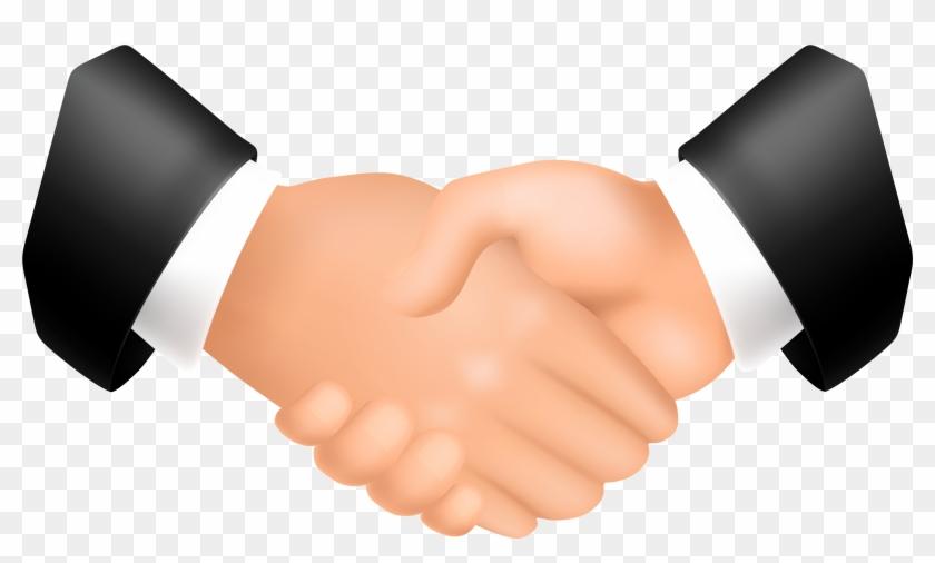 Online Hands Handshake Clipart Png - Shaking Hands Transparent Background #226658