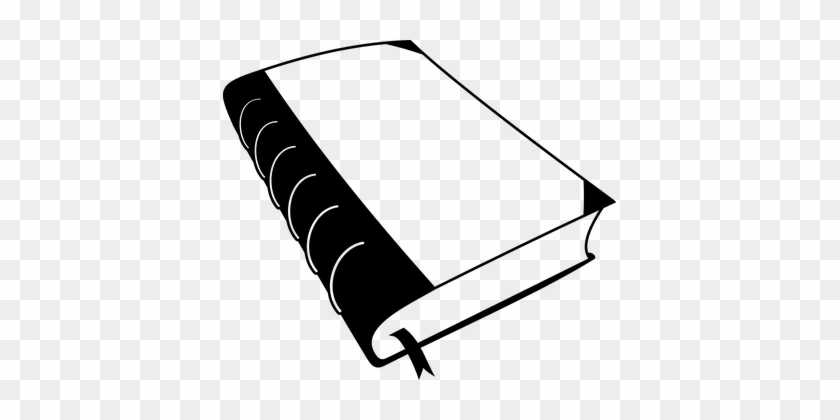 Book Closed Cover Bookmark Black Words Bin - Book Black And White #226888