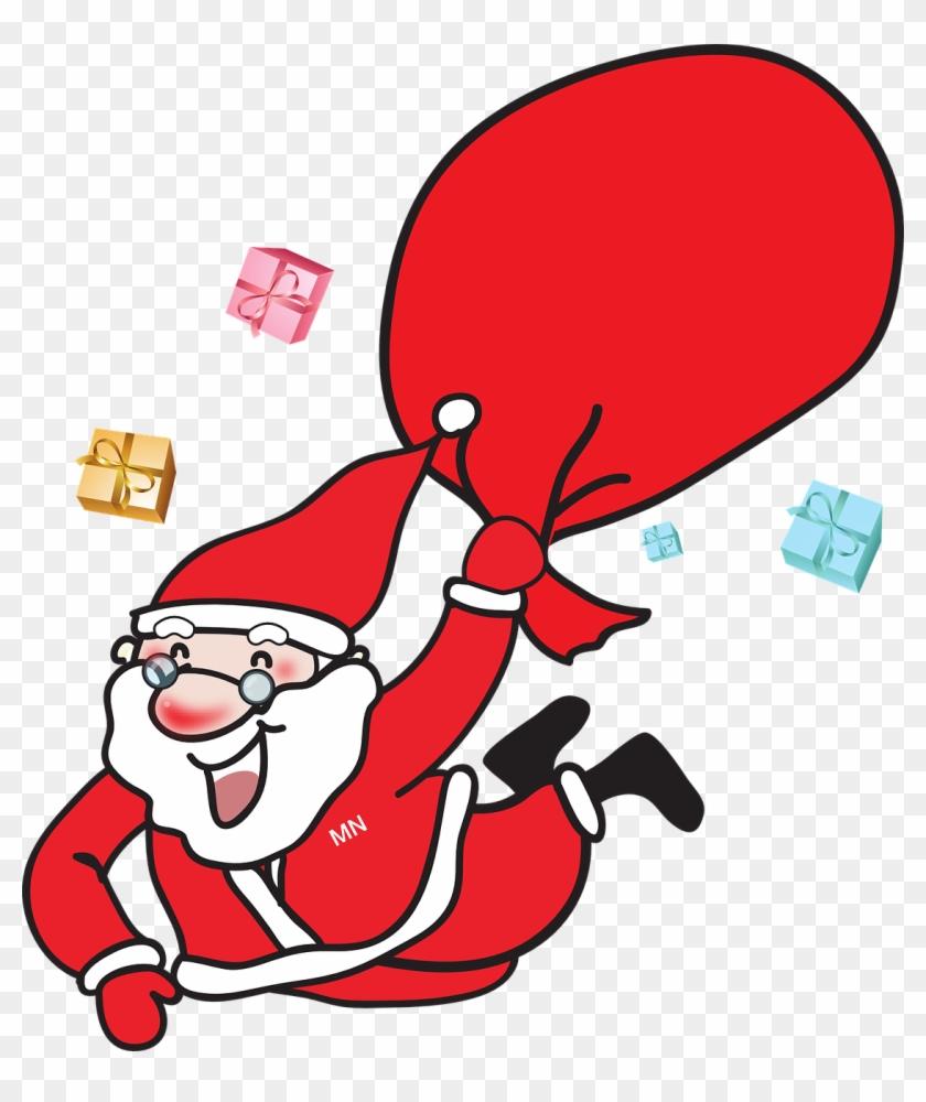 Gedicht Für Den Weihnachtsmann - Laughing Santa Claus Large Tote Bag, Natural, Large #228047