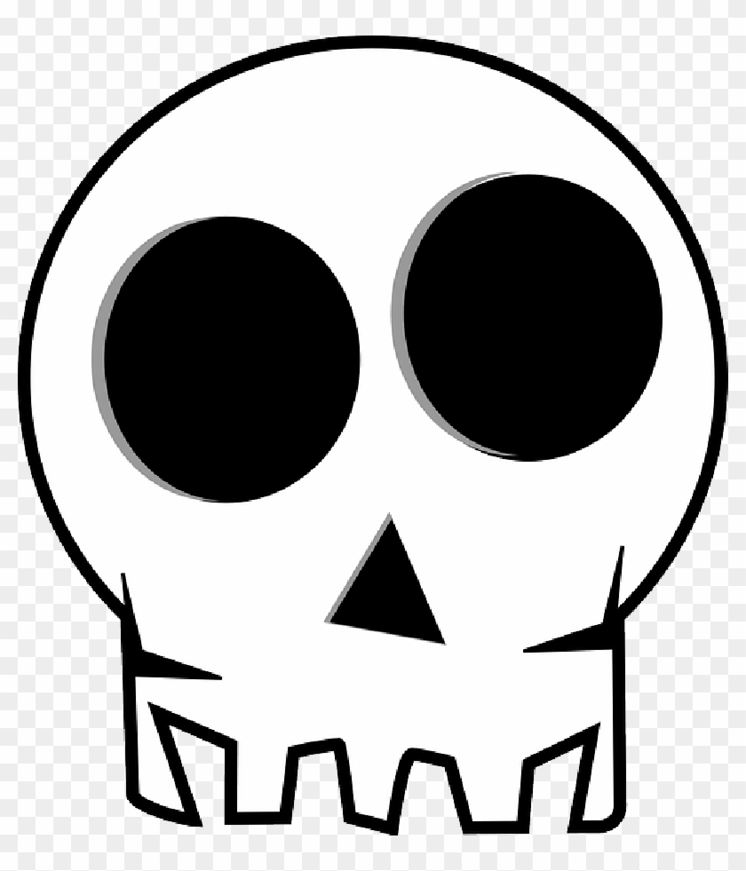 Head Skull, Death's Head, Death, Bones, Funny, Dead