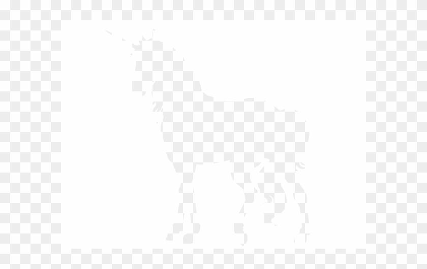 Wandtattoo Einhorn - Unicorn Silhouette In The Wall #228528