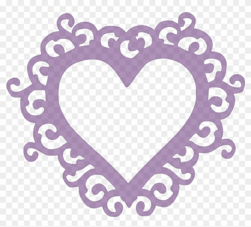 Paper This And That - Heart Frame Svg #228846